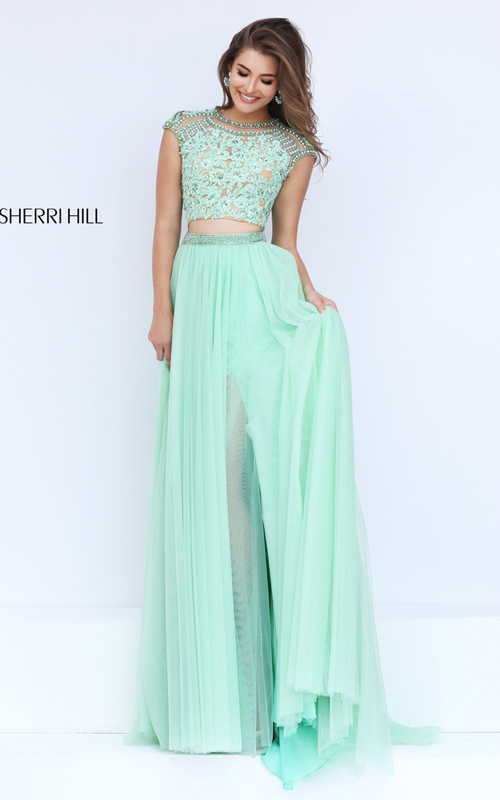 3045d10eb4d http   www.girlpromsdress.com green-sherri-hill-50110-lace-tulle-two-piece- prom-dress-p-681.html