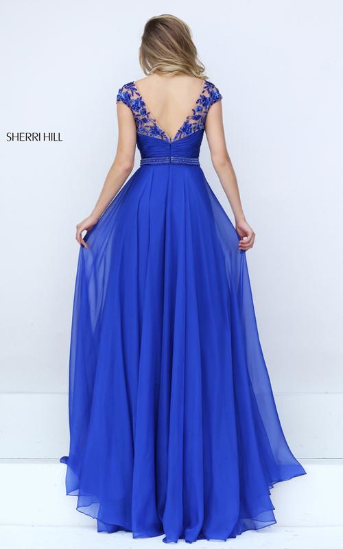 beads Sherri Hill 50211 ruched chiffon 2016 prom dress_1