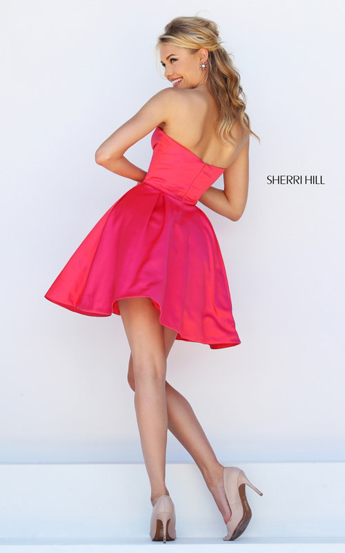 cerise Sherri Hill 50228 a line classic cocktail dress short_1