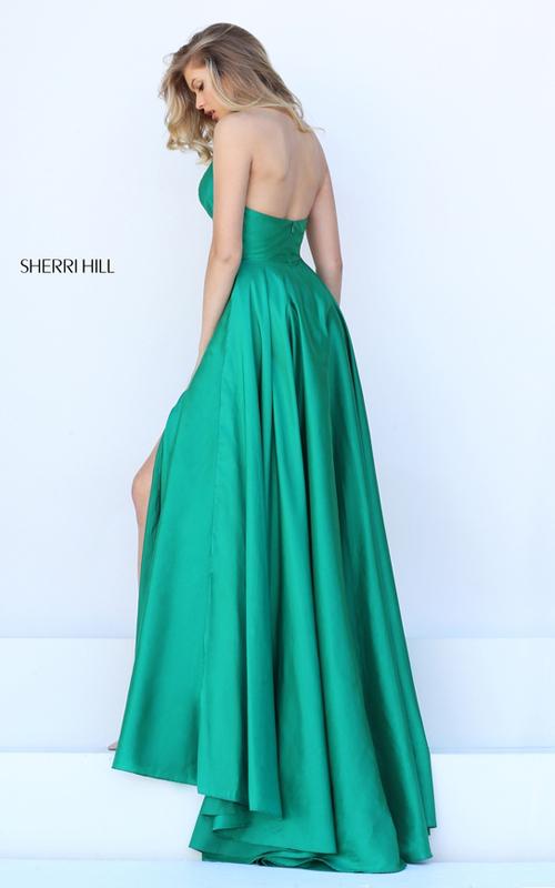 Sherri Hill 50403 halter v neck open back prom dress 2016_1