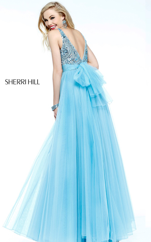 beads Sherri Hill 11022 v back tulle prom dress sexy_1