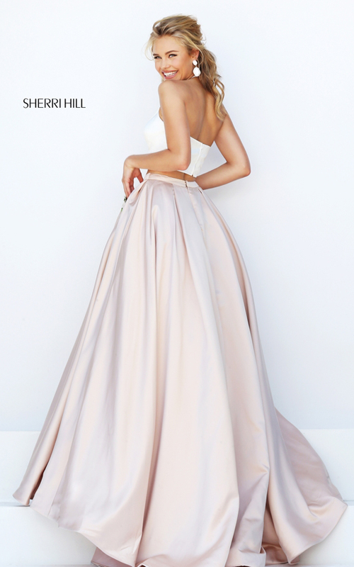 ivory nude Sherri Hill 50219 satin halter eveing gown 2016_1