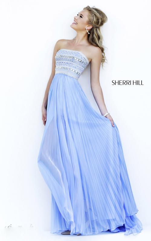 periwinkle sherri hill 32182 beads prom dress cheap
