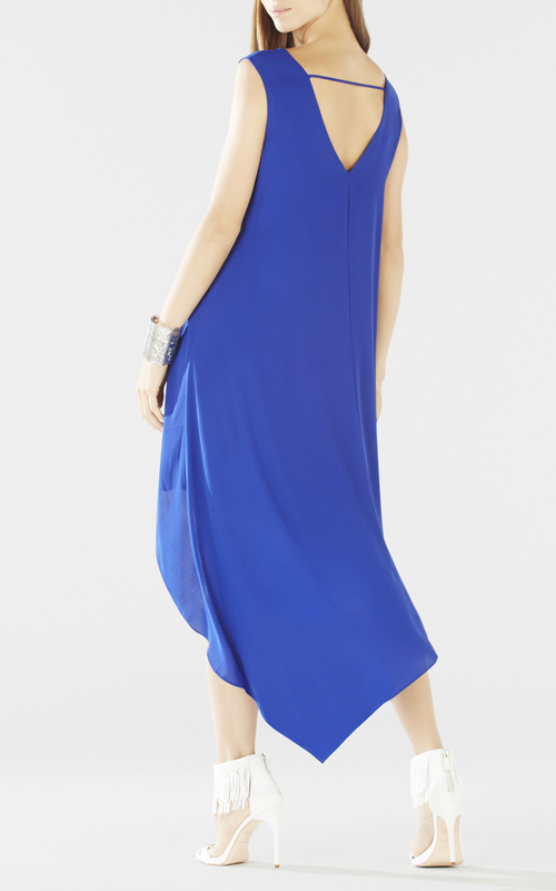 2016 Kaira Asymmetrical Layered BCBG Hi Low Dress Royal_1