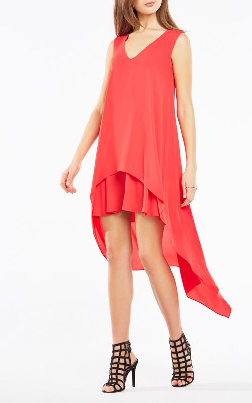 Asymmetrical Kaira Layered BCBG Red Carpet Dress 2016