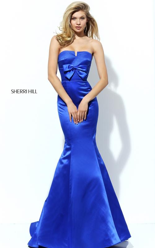 Full-length Sherri Hill 50543 Royal Mermaid Homecoming Dress