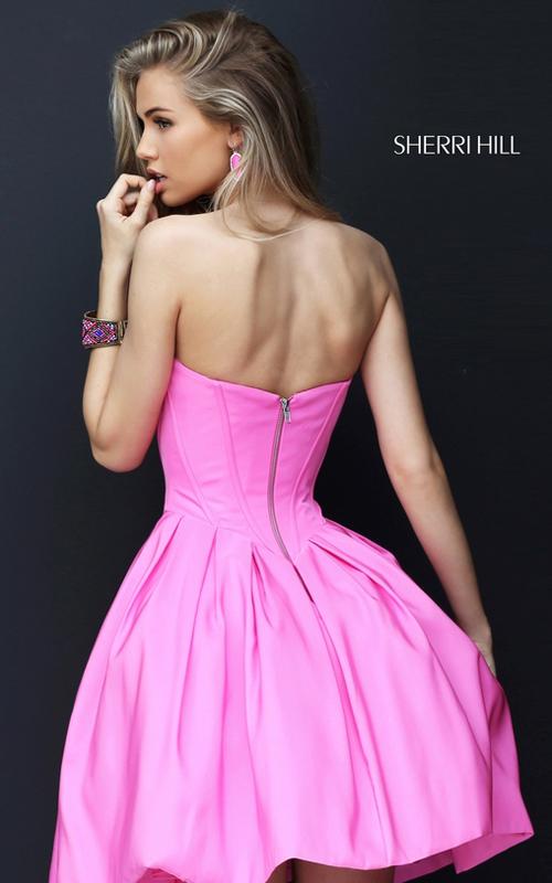 A Line Sherri Hill 50501 Pink Sweet 16 Party Dress Short_1