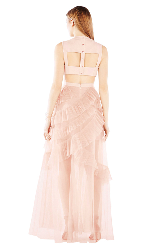Avalon Sheer Sexy Cutout BCBG Princess Dress Pink 2016_1