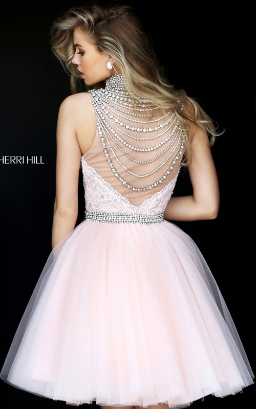 Sherri Hill 50538 Blush Sweetheart Lace Tulle Pageant Dress_1
