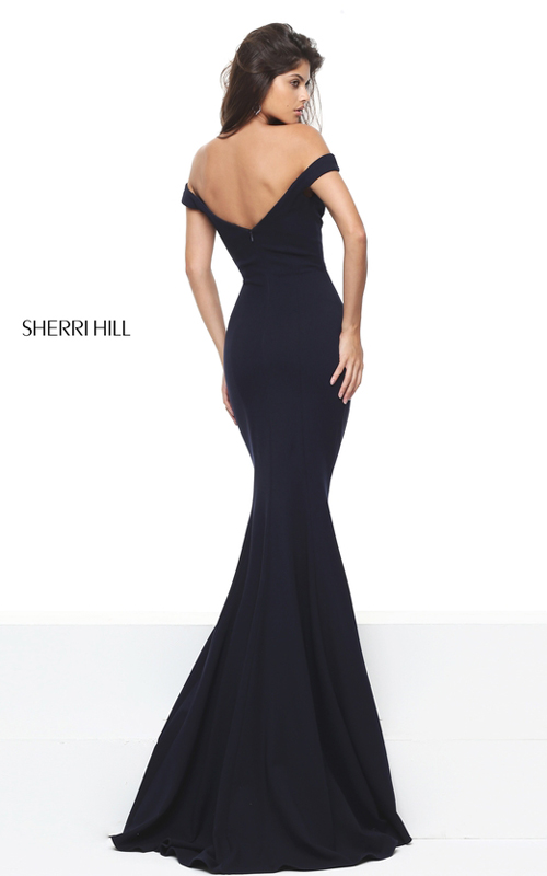Mermaid Sherri Hill 50730 Black Fitted Homecoming Dress 2016_1
