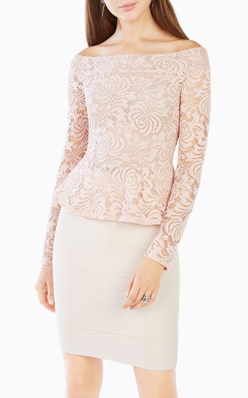 bare-pink-alea-bcbg-off-the-shoulder-lace-peplum-top