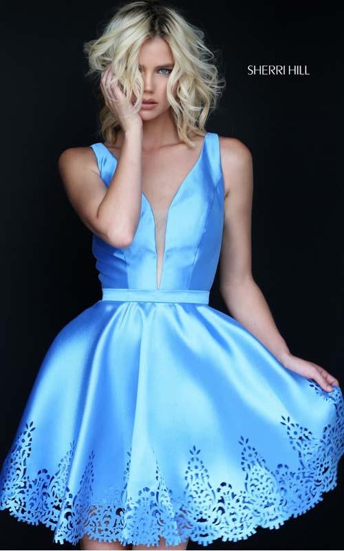 6d6b1686ffa Sherri Hill Short Simple Homecoming Dress